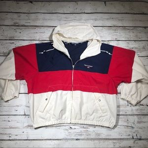 Vintage Polo Sport Windbreaker Jacket Color Block